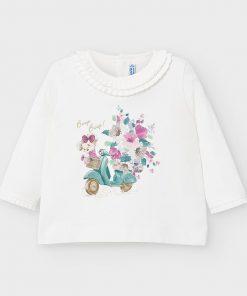 Camiseta m/l serigrafiada Mayoral