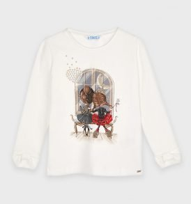 Camiseta m/l puños lazo Mayoral