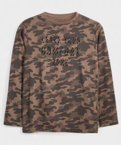 Camiseta m/l camuflaje Mayoral