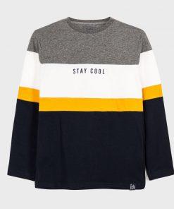 Camiseta m/l sporty bloques Mayoral