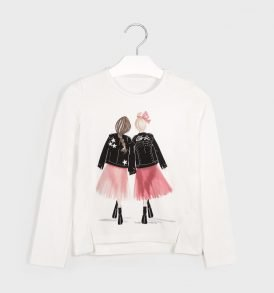Camiseta m/l niñas espalda Mayoral