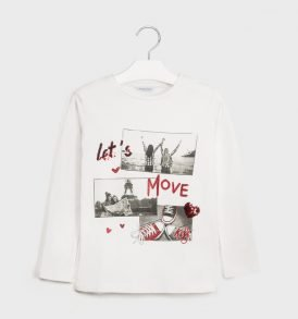 Camiseta m/l serigrafia Mayoral