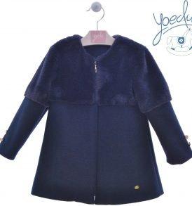 abrigo niña azul yoedu