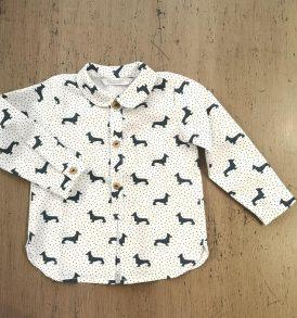 camisa baby magic teckel kids chocolate