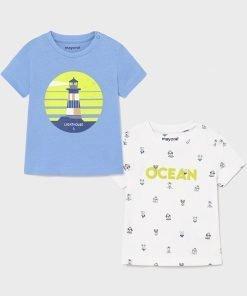 set 2 camisetas manga corta ocean niño mayoral