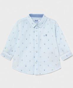 camisa celeste niño mayoral