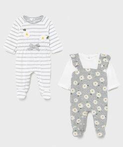 Pack 2 pijamas largos bebe niña Mayoral