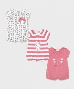 Pack 3 pijamas cortos bebe niña Mayoral