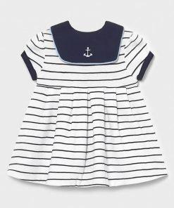 Vestido manga corta marinero bebe niña Mayoral