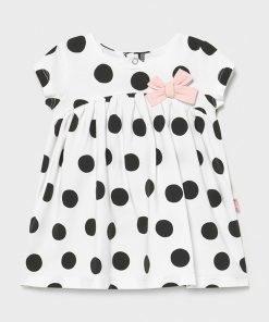 Vestido manga corta topos bebe niña Mayoral