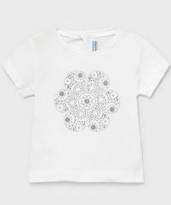 Camiseta manga corta flor niña Mayoral
