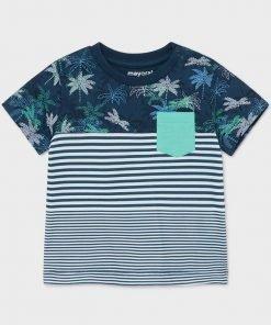 Camiseta manga corta rayas niño Mayoral