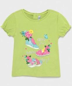 Camiseta manga corta zapatillas baby niña Mayoral