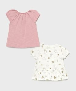 Set 2 camisetas manga corta gatos baby niña Mayoral