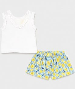 Conjunto short estampado niña Mayora