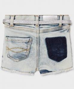 Pantalon corto vaquero lazo niña Mayoral