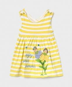 Vestido tirantes rayas baby niña Mayoral