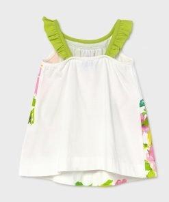 Vestido tirantes flores baby niña Mayoral