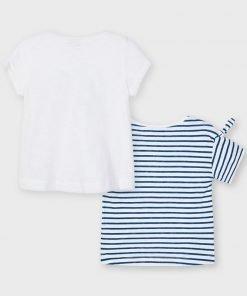 Pack 2 camisetas manga corta corazón mini niña Mayoral