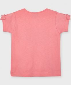 Camiseta manga corta botes mini niña Mayoral