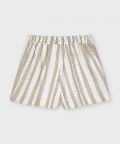 Pantalón corto rayas mini niña Mayoral