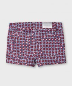 Pantalón corto estampado mini niña Mayoral
