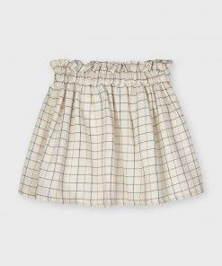 Falda cuadros mini niña Mayoral
