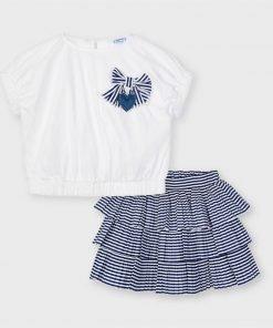 Conjunto falda rayas mini niña Mayoral