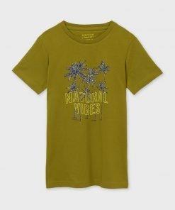 Camiseta manga corta palmeras junior niño Mayoral