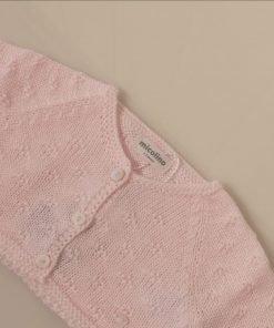 Chaqueta rosa bebe Micolino