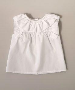 Blusa blanca niña Baby yiro