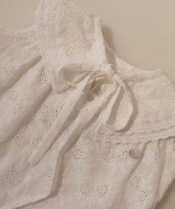 blusa blanca niña boatie