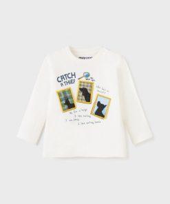 Camiseta apliques bebe niño Mayoral