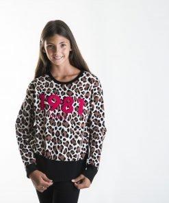 Jersey junior niña animal print Guess