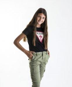 Pantalón jogger verde niña Guess