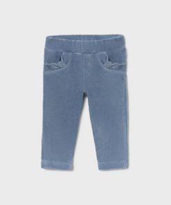 Pantalón pana azul bebe niña Mayoral
