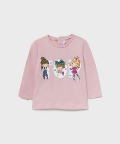 Camiseta rosa bebe niña Mayoral