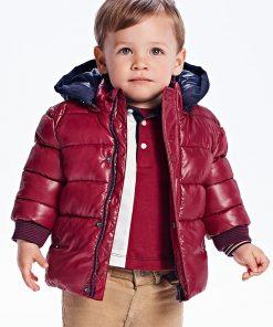 abrigo acolchado burdeos bebe niño Mayoral
