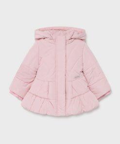 Abrigo rosa bebe niña Mayoral