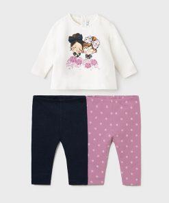 Conjunto leggings 3 piezas bebe niña Mayoral