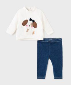Conjunto leggings tejano bebe niña Mayoral