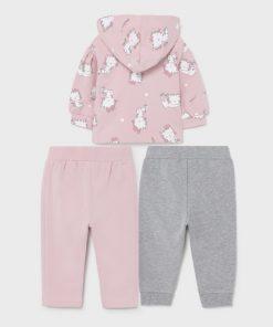 Chándal dos pantalones bebe niña Mayoral