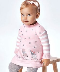 Vestido felpa rosa bebe niña Mayoral
