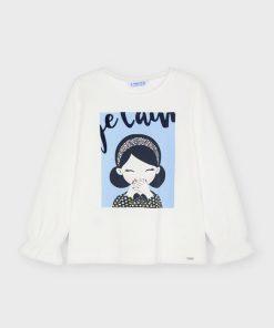 Camiseta serigrafía niña Mayoral