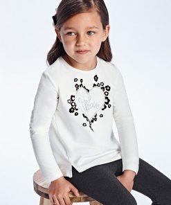 Camiseta corazón niña Mayoral