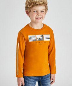 Camiseta mostaza niño Mayoral