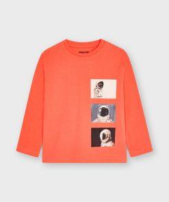 Camiseta naranja niño Mayoral