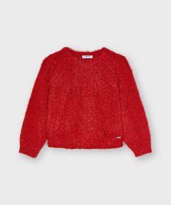 Jersey rojo lurex niña Mayoral