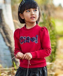 Sudadera roja niña Mayoral