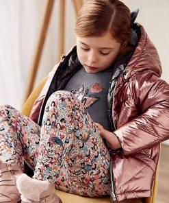 Abrigo reversible rosa niña Mayoral